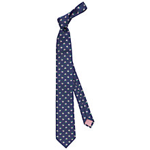 Buy Thomas Pink Newent Floral Silk Tie, Purple/Blue Online at johnlewis.com