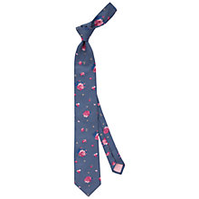 Buy Thomas Pink Mitcham Floral Pattern Silk Tie Online at johnlewis.com