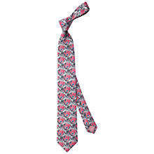 Buy Thomas Pink Harrogate Floral Woven Silk Tie, Pink/Grey Online at johnlewis.com
