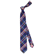 Buy Thomas Pink Grinstead Check Silk Tie, Navy/Red Online at johnlewis.com