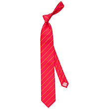 Buy Thomas Pink Dursley Silk Stripe Tie, Red/Orange Online at johnlewis.com