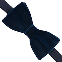 Buy Thomas Pink Velvet Ready To Wear Bow Tie, Navy Online at johnlewis.com