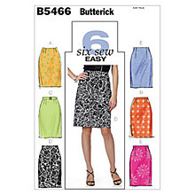 Buy Butterick Women's Skirt Sewing Pattern, 5466 Online at johnlewis.com