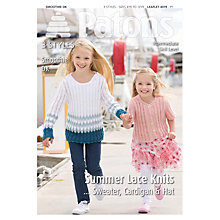 Buy Patons DK Girls Lace Knits Knitting Pattern Online at johnlewis.com