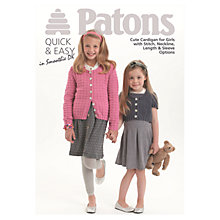 Buy Patons DK Little Girls Cardigan Knitting Pattern Online at johnlewis.com