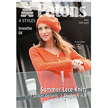 Buy Patons Yarn Ladies Lace Knits Smoothie DK Knitting Book Online at johnlewis.com