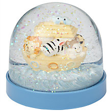 Buy John Lewis Noah's Ark Snowglobe, Blue Online at johnlewis.com