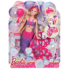 Buy Barbie Bubble-Tastic Mermaid Doll Online at johnlewis.com