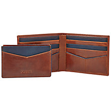 Buy Fossil Leather Wallet And Card Holder, Brown Online at johnlewis.com