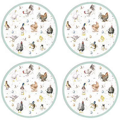 Pimpernel Wrendale Round Placemats, Set of 4