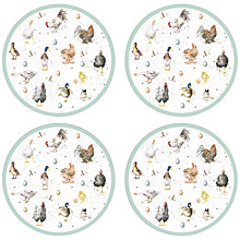Buy Pimpernel Wrendale Round Placemats, Set of 4 Online at johnlewis.com