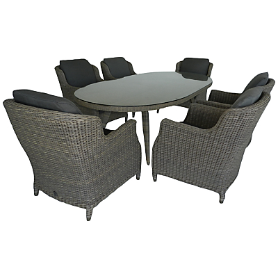 4 Seasons Outdoor Brighton 6-Seater Oval Dining Set