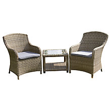 Buy Royalcraft Wentworth Lounge Set with Side Table Online at johnlewis.com