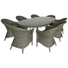 Buy 4 Seasons Outdoor Chester 8-Seater Oval Dining Set, Pure Online at johnlewis.com