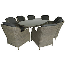 Buy 4 Seasons Outdoor Brighton 8-Seater Oval Dining Set, Pure Online at johnlewis.com