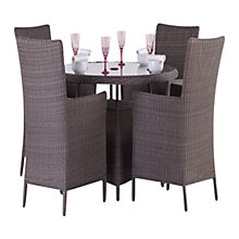 Buy Royalcraft Saint-Tropez 4-Seater Outdoor Dining Set Online at johnlewis.com