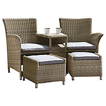 Buy Royalcraft Wentworth Love Seat with Footstools Online at johnlewis.com