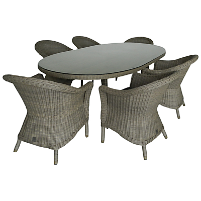 4 Seasons Outdoor Chester 6-Seater Oval Dining Set