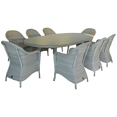4 Seasons Outdoor Java 8-Seater Oval Dining Set