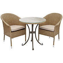 Buy LG Outdoor Saigon Rustic Weave Outdoor Bistro Set Online at johnlewis.com