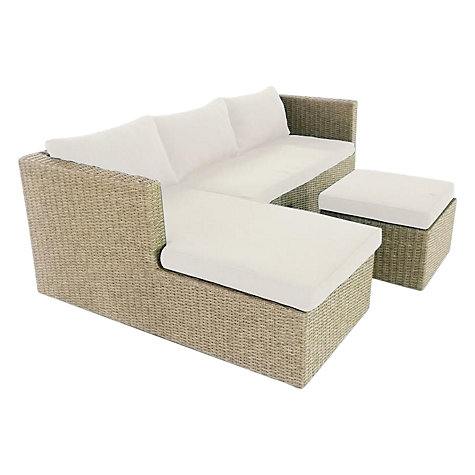 Buy lg outdoor saigon rustic weave outdoor sofa with for Chaise longue john lewis