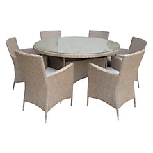 Buy Leisuregrow Saigon Rustic Weave  6-Seater Dining Set Online at johnlewis.com