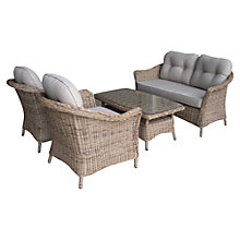 Buy LG Outdoor Saigon Colonial Weave Café Lounge Set Online at johnlewis.com