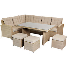 Buy LG Outdoor Saigon Rustic Weave Dining Modular Set Online at johnlewis.com