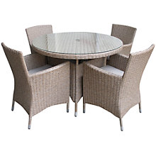 Buy LG Outdoor Saigon Rustic Weave 4-Seater Dining Set Online at johnlewis.com
