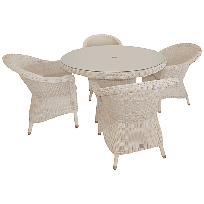 4 Seasons Outdoor Chester 4-Seater Round Dining Set, Praia