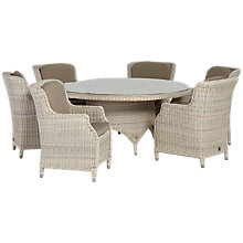 Buy 4 Seasons Outdoor Brighton 6-Seater Round Dining Set Online at johnlewis.com