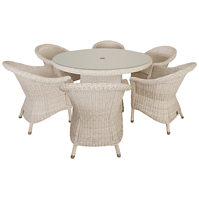 4 Seasons Outdoor Chester 6-Seater Round Dining Set, Praia