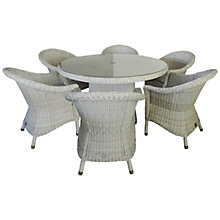 Buy 4 Seasons Outdoor Brighton 6-Seater Dining Set, Pure Online at johnlewis.com