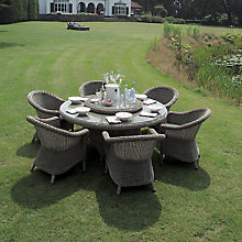 Buy 4 Seasons Outdoor Chester 6-Seater Round Dining Set, Pure Online at johnlewis.com