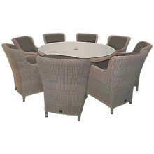 Buy 4 Seasons Outdoor Brighton 8-Seater Round Dining Set Online at johnlewis.com