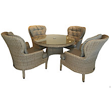 Buy 4 Seasons Outdoor Buckingham 4-Seater Round Dining Set, Pure Online at johnlewis.com