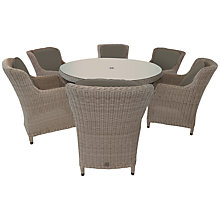 Buy 4 Seasons Outdoor Brighton 6-Seater Round Dining Set, Pure Online at johnlewis.com