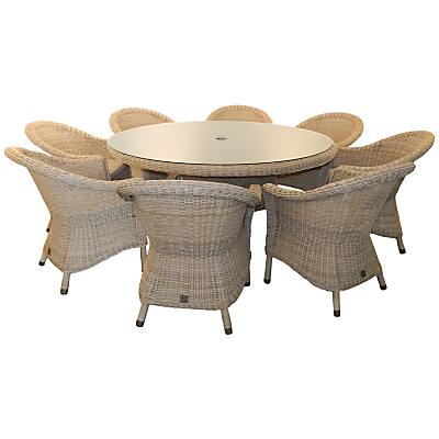 4 Seasons Outdoor Chester 8-Seater Round Dining Set, Pure