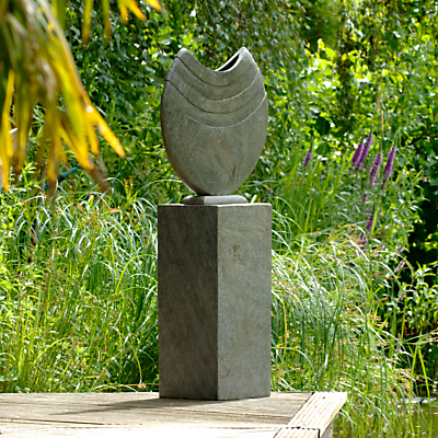 Foras Ikra 50 Garden Vase with 75cm Honed Slate Plinth