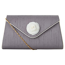 Buy Jacques Vert Soft Flower Clutch Bag, Mocha Online at johnlewis.com