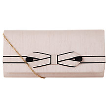 Buy Jacques Vert Piped Bow Clutch, Champagne Online at johnlewis.com