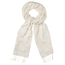 Buy Phase Eight Diamond Weave Pashmina, Cream Online at johnlewis.com