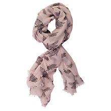 Buy Chesca Butterfly Printed Scarf, Soft Pink Online at johnlewis.com