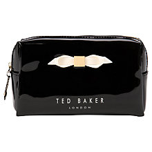 Buy Ted Baker Nellyy Small Bow Wash Bag, Black Online at johnlewis.com