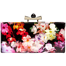 Buy Ted Baker Mollee Leather Floral Bow Matinee Purse, Black Online at johnlewis.com