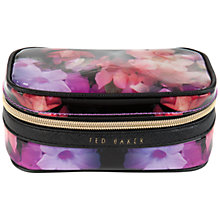 Buy Ted Baker Karlyin Floral Jewellery Case, Black Online at johnlewis.com
