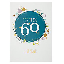 Buy Art File Age 60 Greeting Card Online at johnlewis.com