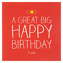 Buy Happy Jackson Big Happy Birthday Card Online at johnlewis.com
