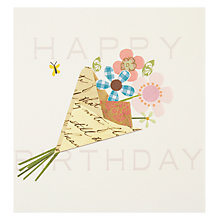 Buy Caroline Gardner Bunch of Flowers Greeting Card Online at johnlewis.com