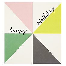 Buy Caroline Gardner Block Triangles Greeting Card Online at johnlewis.com